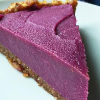 Raw Purple Sweet Potato Pie [Vegan, Gluten-Free]