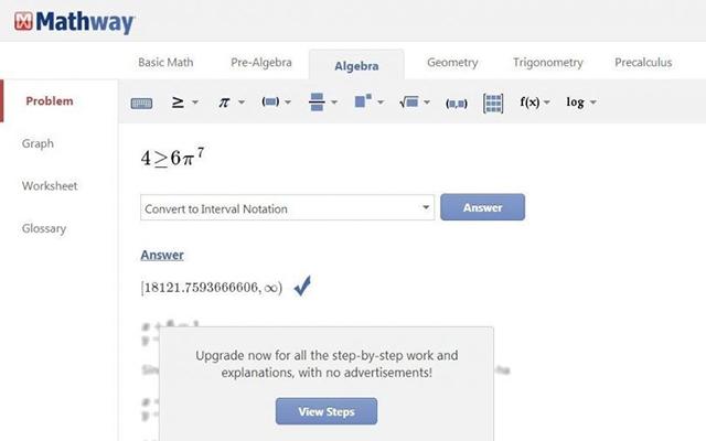 Mathway Solver on