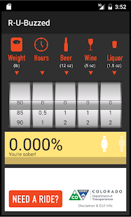 R-U-Buzzed? BAC Calculator- screenshot thumbnail
