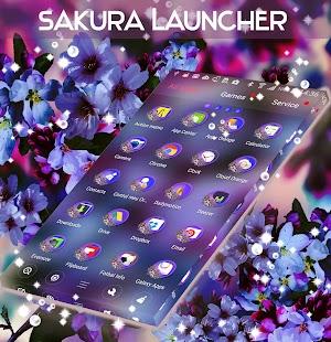 Sakura Launcher Theme - náhled