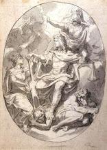 Photo: Charles Le Brun (1619-1690) La Reformation de la Justice Pierre noire et lavis gris - 28,6 x 20,3 cm Collection particulière Photo : D. Mandrella