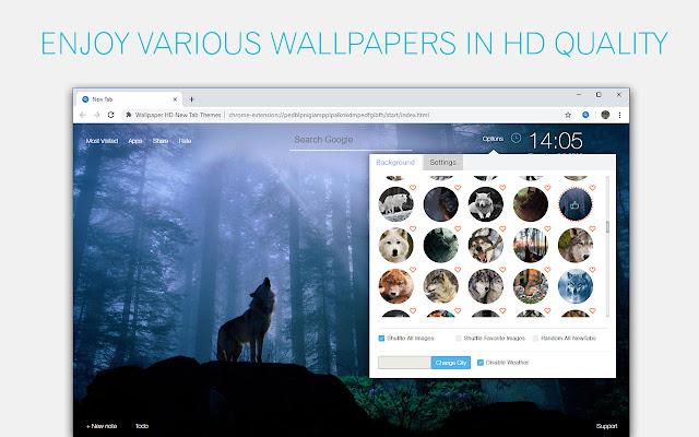 Wolf Wallpaper HD Custom New Tab