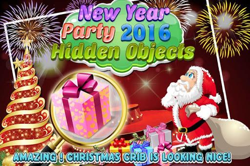 New Year 2016 Hidden Objects