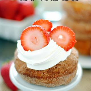 Easy Strawberry Shortcake Donuts.