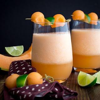 Cantaloupe Lime Agua Fresca.