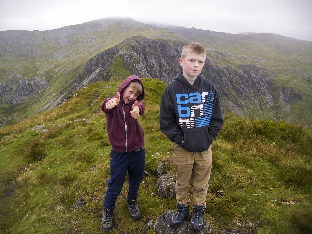 On the summit of Pen yr Helgi Du