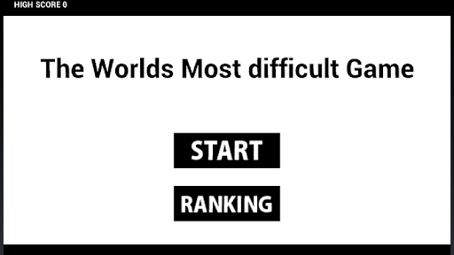 The Worlds Most difficult Game