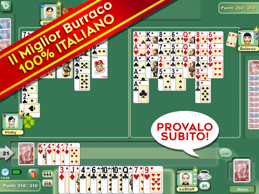 Burraco e Pinelle Online apkpoly screenshots 6
