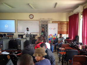 Photo: Facilitators giving final remarks and instructions/assignments to students
