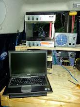 Photo: V/UHF station and laptop