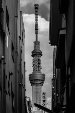 Photo: Skytree Karaoke  Karaoke at the Skytree anyone? I was doing some scouting around Asakusa today for a photo shoot I'm hoping to do in the near future when I ran across this scene in a small alley. Quite a change of pace from all the cherry blossoms I've been shooting this week!  Blog post: http://lestaylorphoto.com/skytree-karaoke/