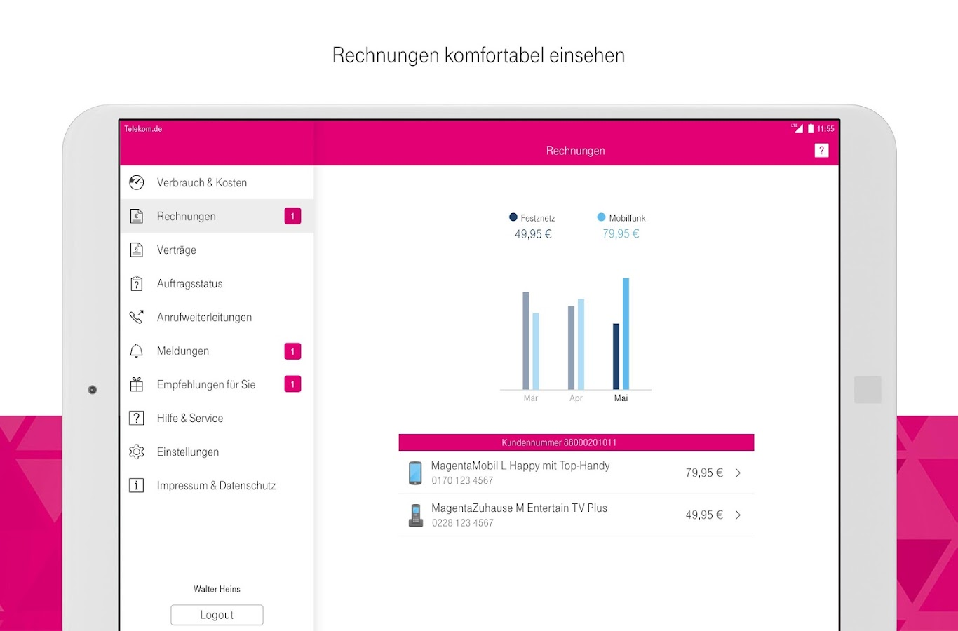 MagentaSERVICE- screenshot