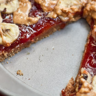 Peanut Butter, Jam, & Banana Breakfast Pizza