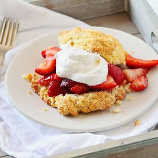 Cornmeal Biscuits with Strawberries.