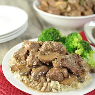 Beef Tips in Mushroom Brown Gravy – Low Carb, Gluten Free, Primal.