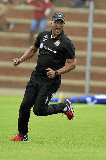 Highlands Park coach Owen da Gama.
