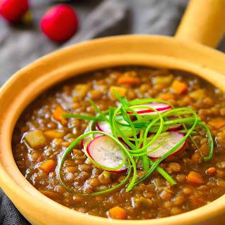 Spanish-Style Vegan Lentil Stew.