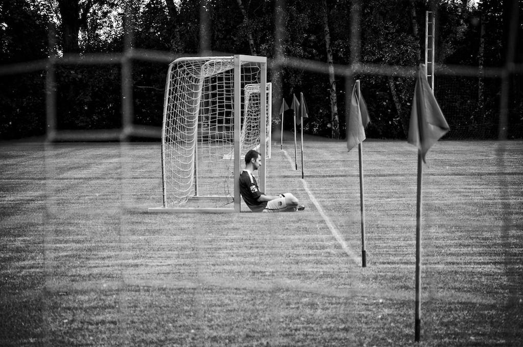 Photo: Football loneliness