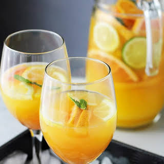 Mimosa Pitcher Cocktail.