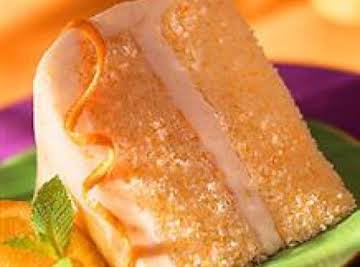FROSTED ORANGE CHIFFON CAKE W/ORANGE BUTTERCREAM FROSTING