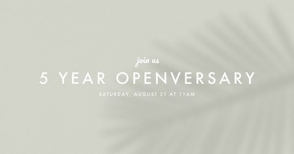 Five Year Openversary - Facebook Event Cover Template