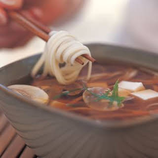 Miso Soup with Udon Noodles.