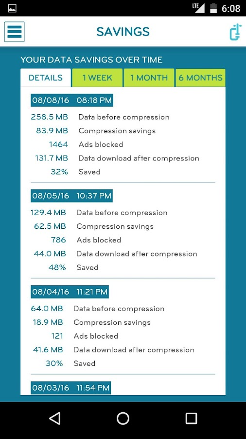 DataCompress: Save money- screenshot