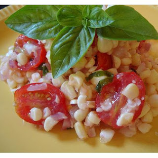 Summer Corn and Tomato Salad With Fresh Basil