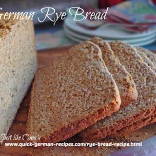 German Rye Bread Recipe