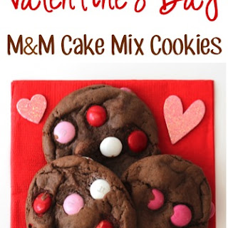 Valentine's Day M&M Cake Mix Cookies Recipe!