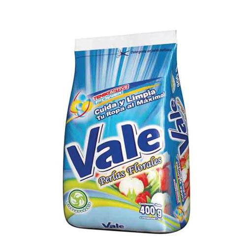 detergente en polvo vale perlas florales 400gr