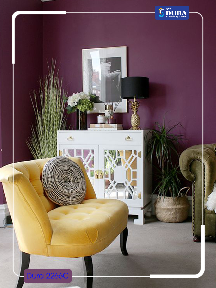 Sơn nhà màu tím