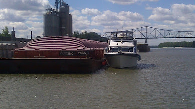 Photo: The Zone tied up at Logston Tug Boat Company in Beardstown, IL.