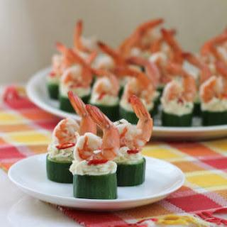 Cucumber Shrimp Cups.