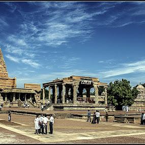 Brihadeswara Temple by Debasis Banerjee - Buildings & Architecture Places of Worship