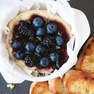 Baked Camembert with Berries, Thyme and Wine.