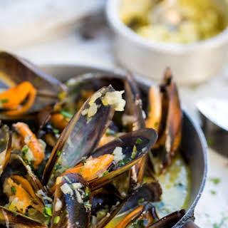 West Coast mussels with Café de Paris butter.