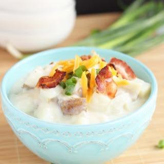 Creamy Baked Potato Soup with Bacon.