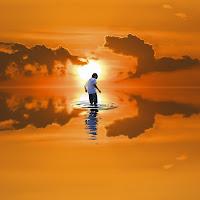 walking in the sea di