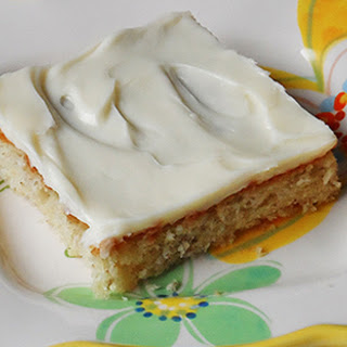 Banana Bars with Vanilla Cream Cheese Frosting