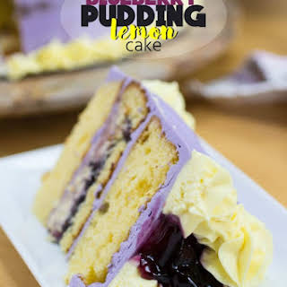 Blueberry Pudding Lemon Cake.