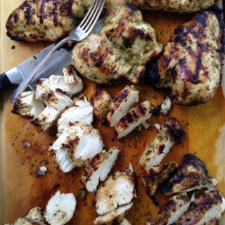 Grilled Chicken Breasts with Lime, Roasted Garlic and Fresh Herb Marinade Recipe