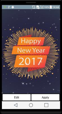 New Year 2017 Live Wallpaper - screenshot