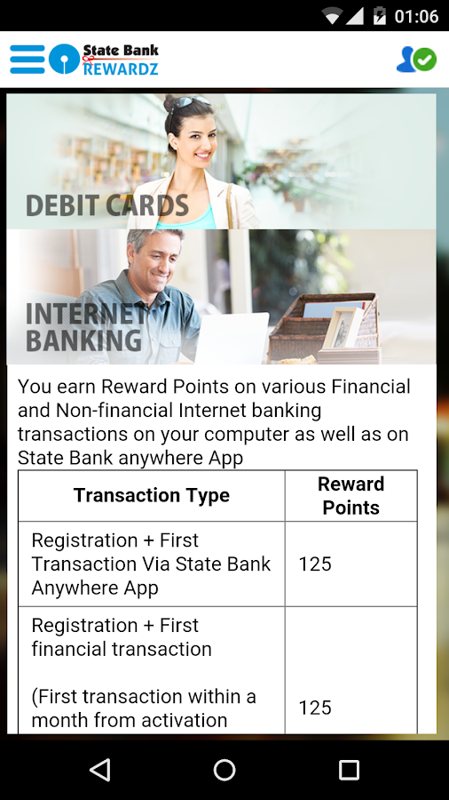 State Bank Rewardz- screenshot