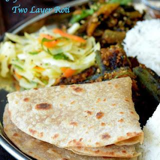 Gujarati Pad Wali Roti (Be Padi Rotli) | Two Layer Roti | Layered Chapati.