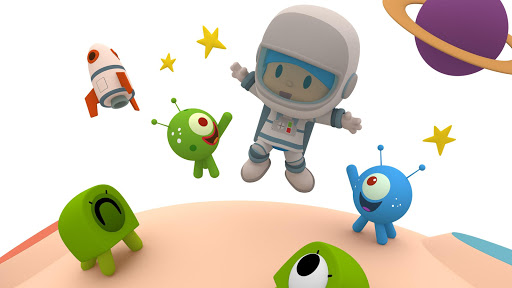 Pocoyo 1, 2, 3 Space Adventure: Discover the Stars apkpoly screenshots 1