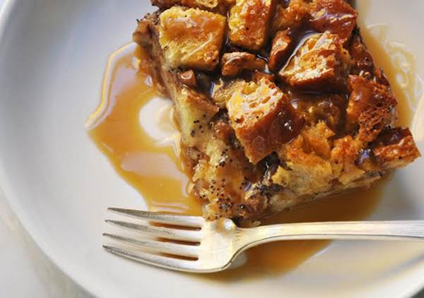 Gingerbread Spiced Bread Pudding With Bourbon Sauc Recipe