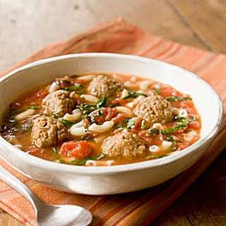 Italian Wedding Soup with Vegan Meatballs.
