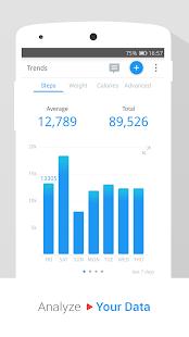 Pedometer, Step Counter & Weight Loss Tracker App Screenshot