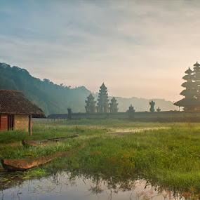 The Tamblingan Temple by Kus Wantoro - Landscapes Prairies, Meadows & Fields